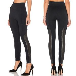 Spanx Perforated Faux Leather Leggings Black M